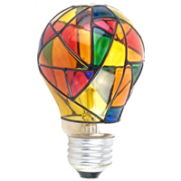 stained glass bulb